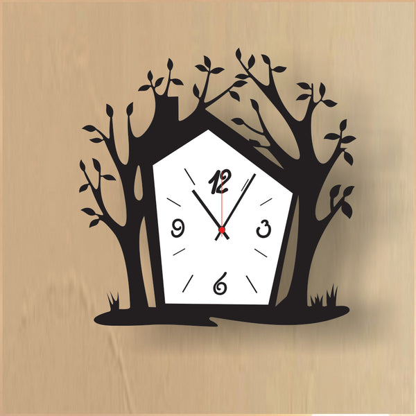Antique Acrylic Tree Art Designer wall clock for Home and Office