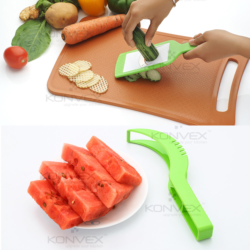 Konvex 2 in 1 Slicer & Grater with FREE Konvex Watermelon Scooper & Cutter