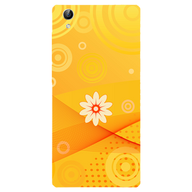 Yellow Flower Art Printed Case Cover For VIVO Y51 by Mobiflip