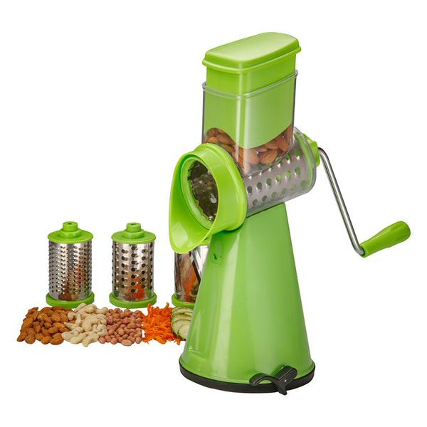 Honest Rotary Vegetable Cutter Grater Slicer Dicer, 3-Piece, 3 IN 1