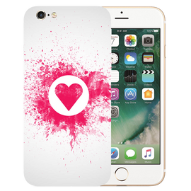 Pink Heart Art Printed Case Cover For iPhone 6 by Mobiflip