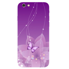 Purple Butterfly Printed Case Cover For iPhone 6 by Mobiflip