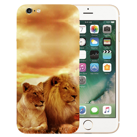 Lion Couple Printed Case Cover For iPhone 6 by Mobiflip