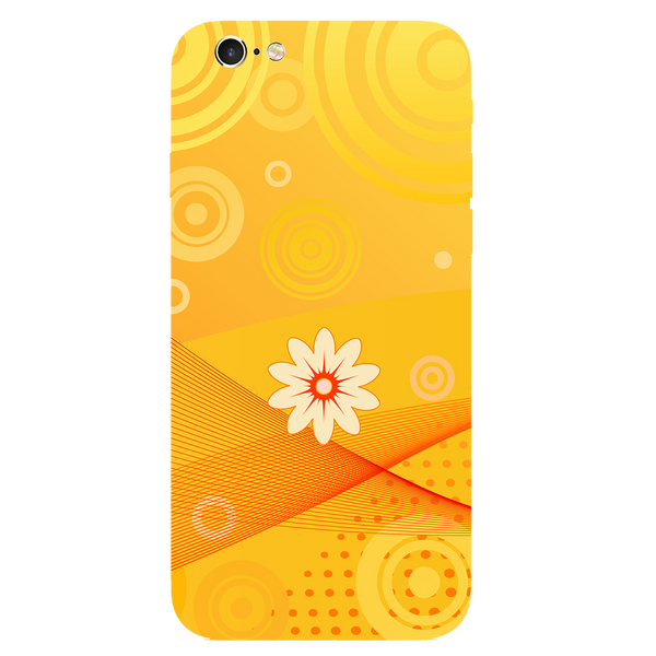 Yellow Flower Art Printed Case Cover For iPhone 6 by Mobiflip