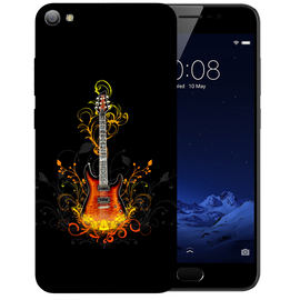 Golden Guitar Printed Case Cover For VIVO V5S by Mobiflip