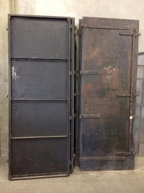 Industrial Black Iron Single Metal Fire Door