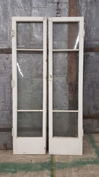 glass french doors pair