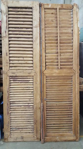 pair of wood shutters