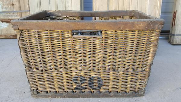 French Wicker Wine Basket