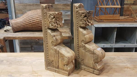 Pair 100 Year Old Corbels