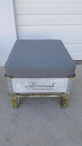 """Hammond of Kalamazoo"" Industrial Crate with Sunbrella Cushion"