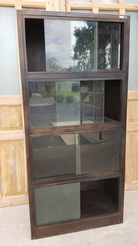 Cabinet with 8 Sliding Glass Panes