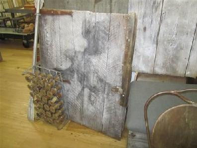 Barn Door with Bird