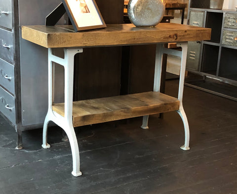 Barn Wood and Metal Console Table
