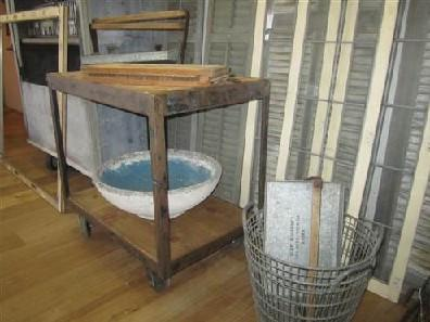 Two Tier Factory Trolley on Wheels with Wood Shelves