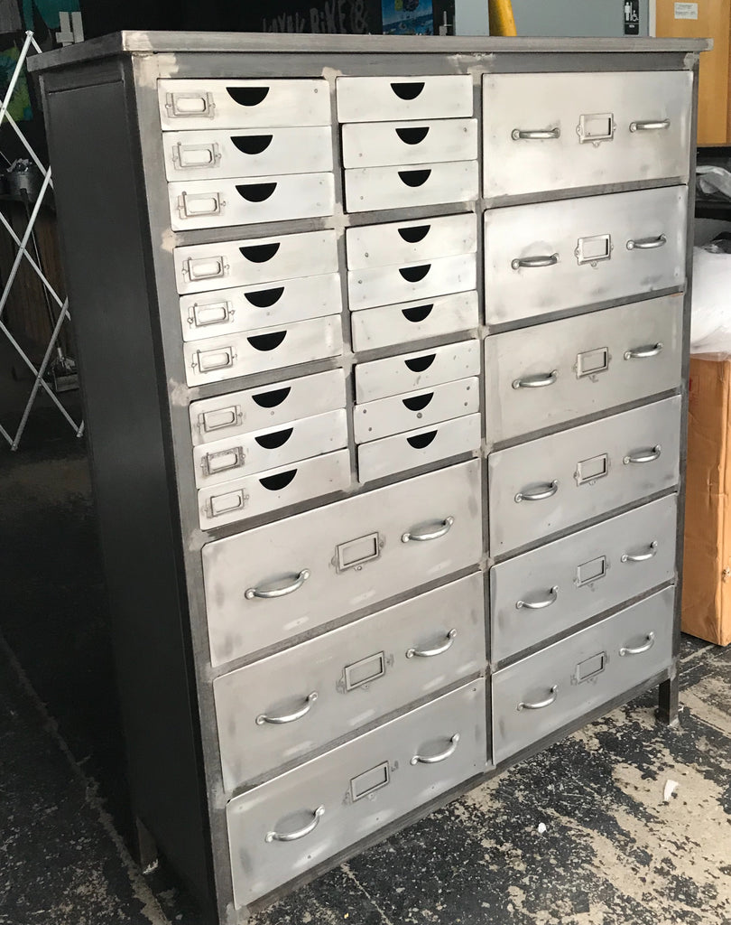 Metal Chest with 27 Drawers