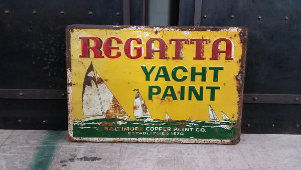 """Regatta Yacht Paint"" Metal Sign"