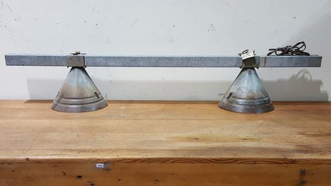 Double Galvanized Hanging light