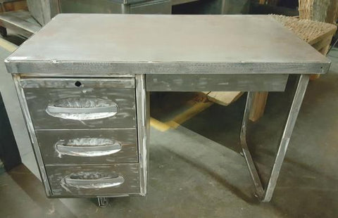 Stainless Steel Desk with 3 Drawers