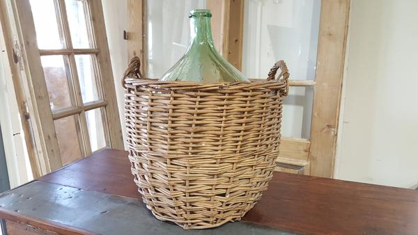 Bottle in Wicker Basket