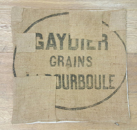 Square French Grain Sack Pillow