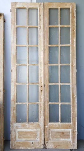 Pair of 12 Pane Wooden French Doors