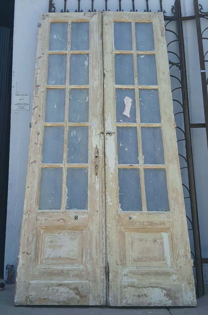 Pair of 10-Pane French Doors