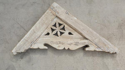 Pair of White Washed Wooden Corbels