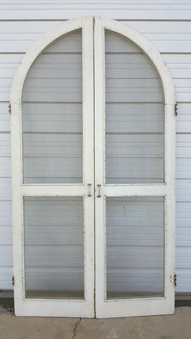 White Arched Screen Doors