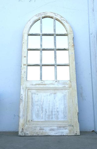 Arched Door with Mirrored Panels