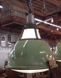Green Industrial Porcelain Factory Light