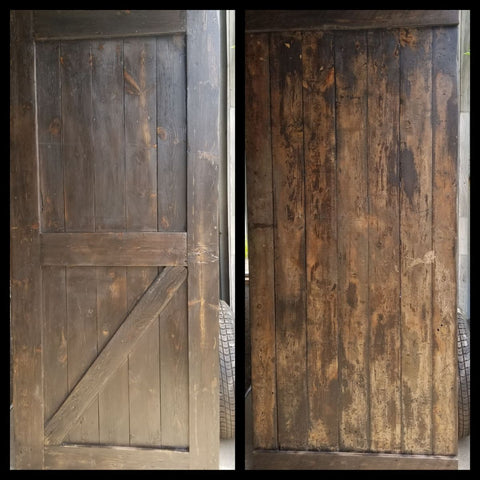 Dark Wood Barn Door