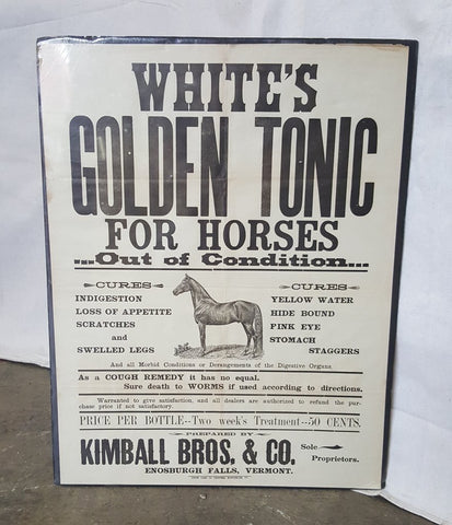 White's Golden Tonic Advertisement