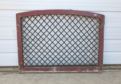 Red Arched Wire Window Diamond Pane Gates