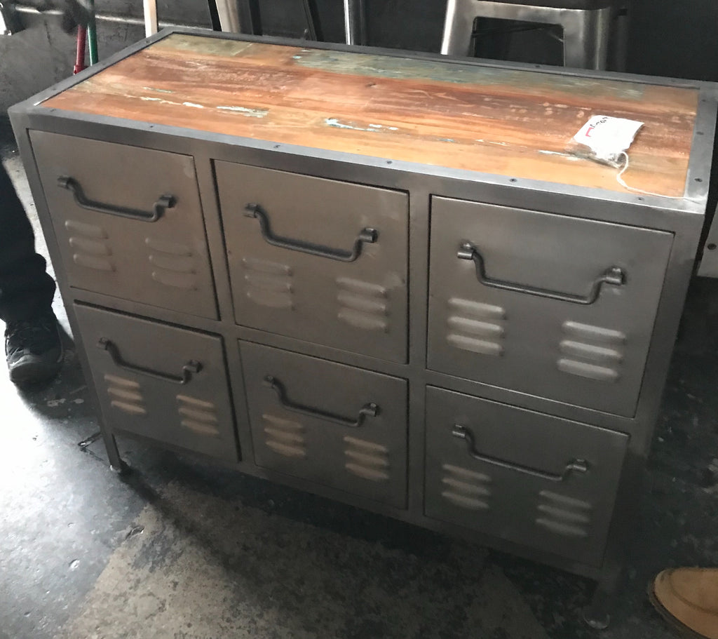 Metal and Wood Dresser