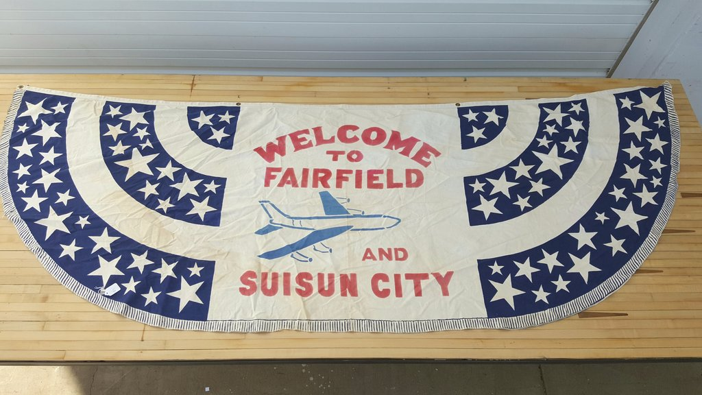 Welcome to Fairfield Fabric Banner Sign