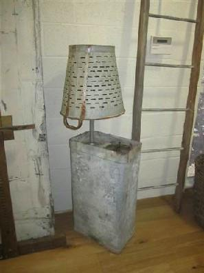 Olive Bucket Floor Lamp