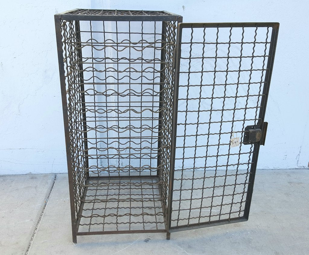 Rusty Iron Wine Cage