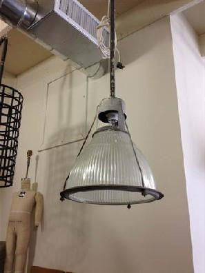 Large glass industrial light