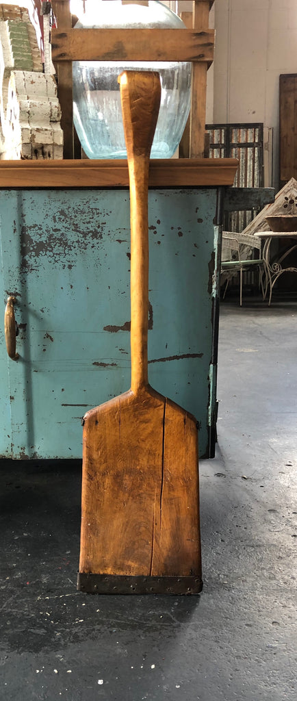 Wooden Shovel with Metal Restorations