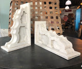 Pair White Corbels Made from Reclaimed Barn Wood