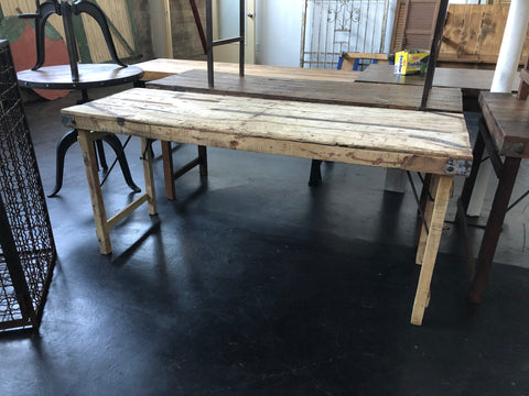 Blonde Wood Folding Table