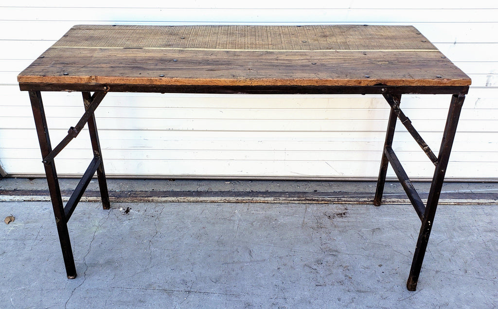 Folding Wood Console Table