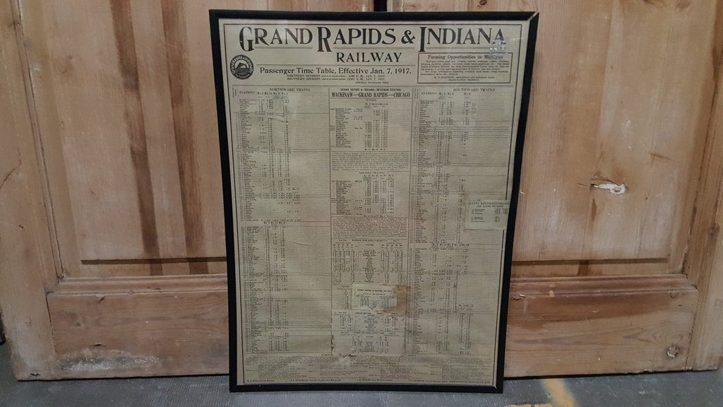 Grand Rapids & Indiana Railway Time Table