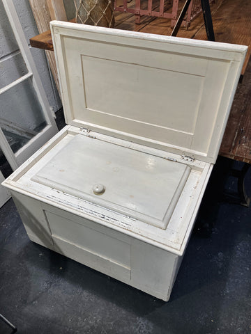 Zinc Lined Wooden Ice Box