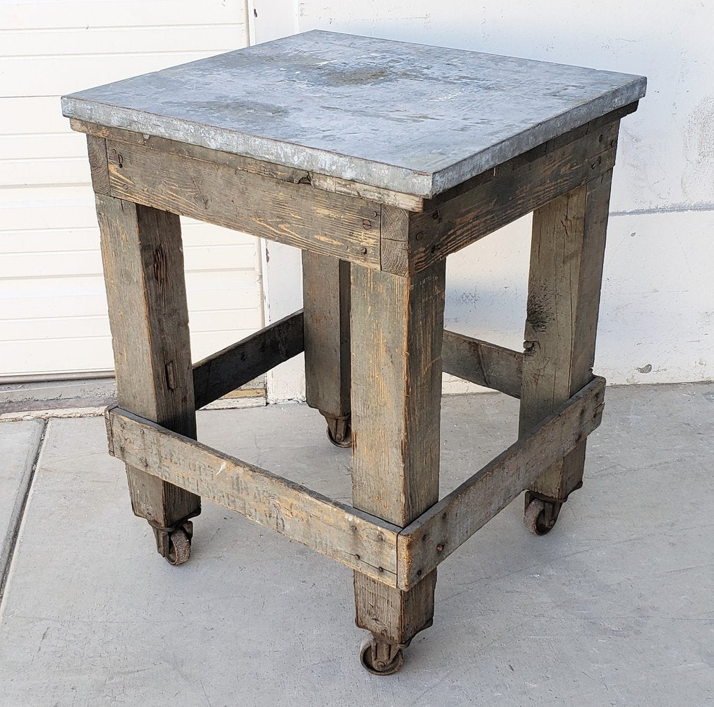 Small Metal Top Rolling Table