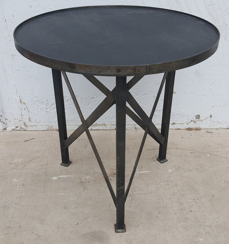 Black Steel Side Table