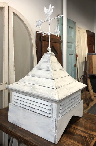 White Cupola with Weathervane