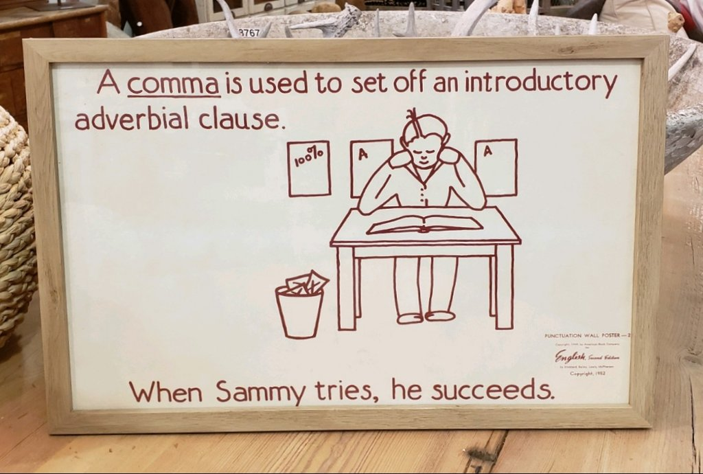 Framed Elementary School Punctuation Posters