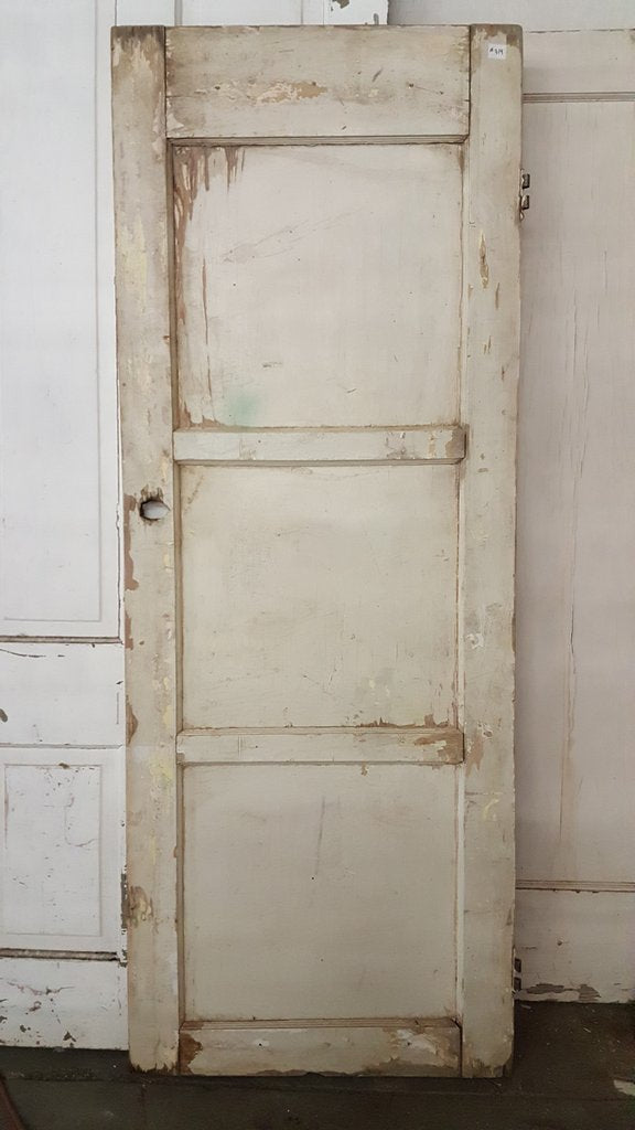 3 Panel Old White Door